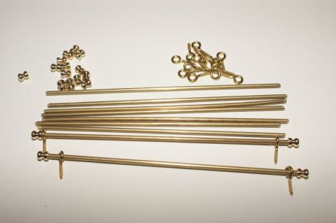 6 Brass Stair Rod Set    ( one packet only available)